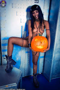 Black gotic Halloween teen slut eight